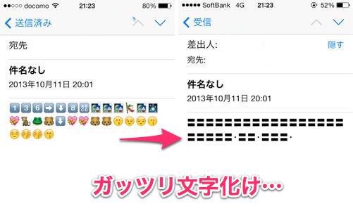 また記事では、この文字化けについてドコモのオペレーターに電話して状況を話すと、\u201diPhone購入について注意事項\u201dというpdfに「iPhoneでは、spモードメール等に含ま
