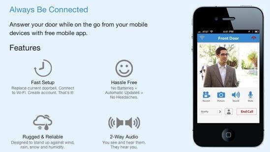家でインターフォンが鳴ったけど、取り込み中で出たくないってとき、ありますよね?そんなときにiPhoneでサクッと応答できちゃうツール「iDoor Cam」がアメリカで発売されるそうです。