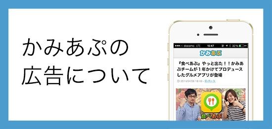 かみあぷ広告について