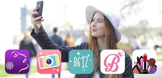手間いらず自動でキレイな写真が撮れる自撮り専用カメラアプリ5選
